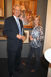 Artist RICHARD FOSTER and ANTHEA TURNER at the opening of the Royal Society Of Portrait Painters annual exhibition 2007 held at The Mall Galleries, The Mall, London on 25th April 2007.<br /><br />NON EXCLUSIVE - WORLD RIGHTS
