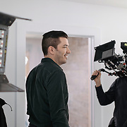 Jonathan Scott preps to film a bathroom scene during a production day for the HGTV show, Brother vs Brother, Wednesday, February 15, 2017 in Galveston, Texas. Season five of the show which features The Property Brothers, Jonathan and Drew Scott, airs later this year.<br /> <br /> Todd Spoth for The New York Times.