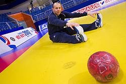 Gorazd Skof during practice session of Slovenia National Handball team during 10th EHF European Handball Championship Serbia 2012, on January 17, 2012 in Millennium Center, Vrsac, Serbia. (Photo By Vid Ponikvar / Sportida.com)