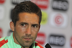 August 30, 2017 - Porto, Porto, Portugal - Joao Moutinho player of Portugal speaks to the media during a press conference at the FIFA World Cup Russia 2018 qualifier match between Portugal and Ilhas Faroe at Bessa Sec XXI Stadium on August 30, 2017 in Porto, Portugal. (Credit Image: © Dpi/NurPhoto via ZUMA Press)