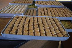 June 23, 2017 - Ankara, Turkey - Traditional Baklava stuffed with walnut is pictured at a bakery ahead of Eid al-Fitr in Ankara, Turkey on June 23, 2017. (Credit Image: © Altan Gocher/NurPhoto via ZUMA Press)