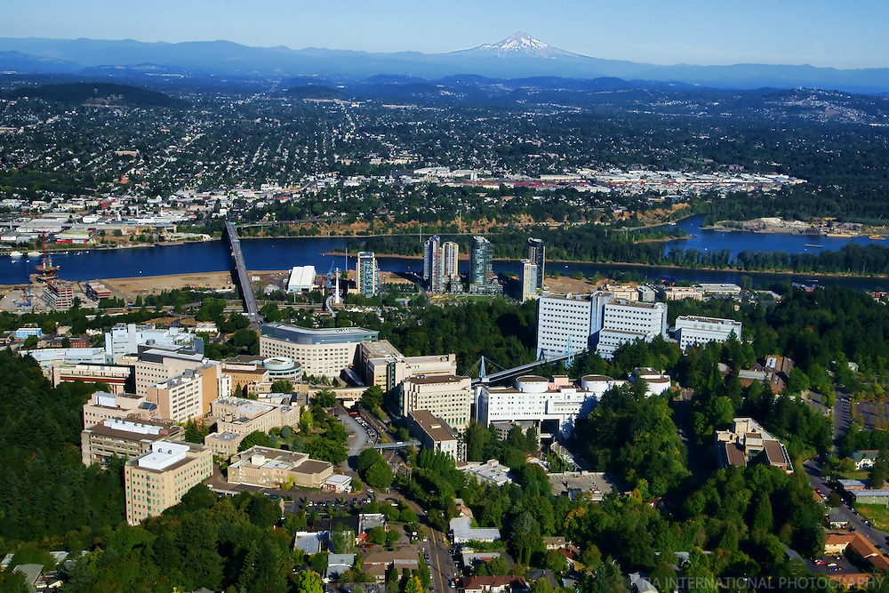 Oregon Health & Science University (OHSU) with Ross Island & Mount Hood (2)