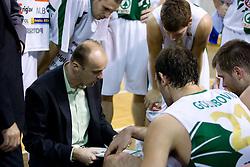 Head coach of Olimpija Jure Zdovc at basketball match of NLB League between KK Union Olimpija and KK Crvena zvezda,  on October 24, 2009, Arena Tivoli, Ljubljana, Slovenia.  Union Olimpija won 94:76.  (Photo by Vid Ponikvar / Sportida)