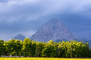 Crowsnest Mountain at Crownest Pass in Alberta, Canada, USA