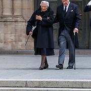 LUX/Luxemburg/20190504 -  Funeral<br /> of HRH Grand Duke Jean, Uitvaart Groothertog Jean, oud koning Albert II (R) and partner ex koninging Paola