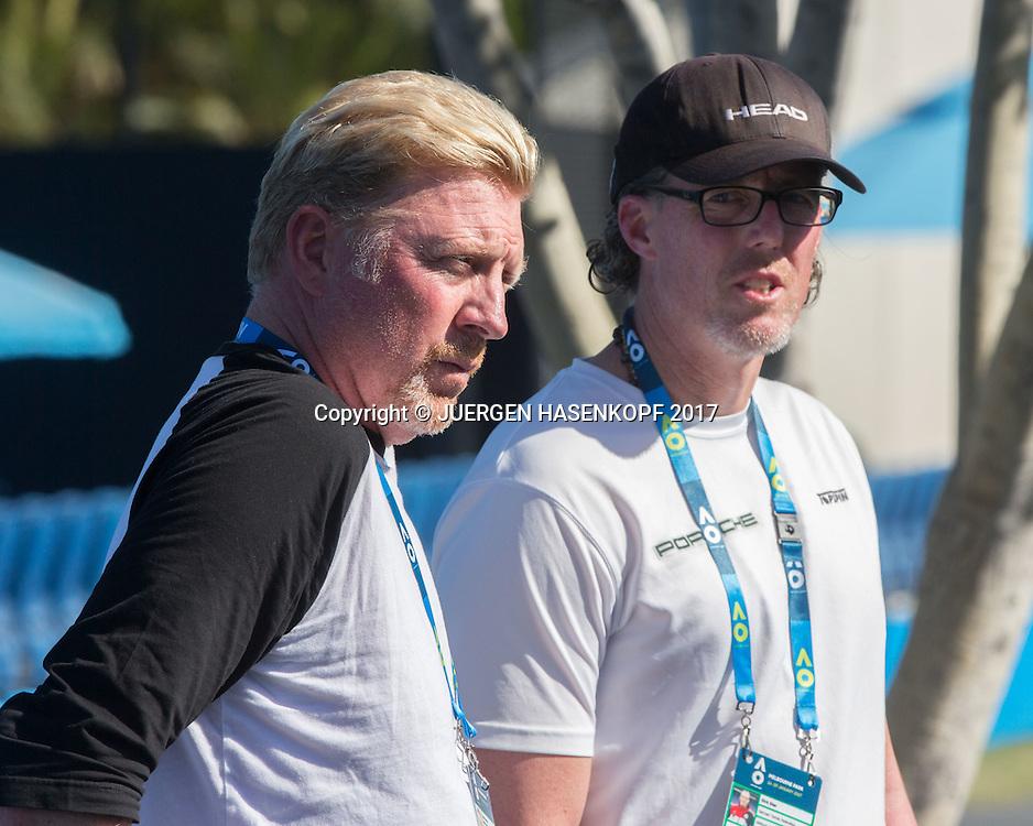 BORIS BECKER und DIRK DIER<br /> <br /> Australian Open 2017 -  Melbourne  Park - Melbourne - Victoria - Australia  - 15/01/2017.