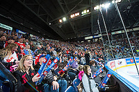 KELOWNA, CANADA - NOVEMBER 9: Fans on November 9, 2015 during game 1 of the Canada Russia Super Series at Prospera Place in Kelowna, British Columbia, Canada.  (Photo by Marissa Baecker/Western Hockey League)  *** Local Caption *** fans