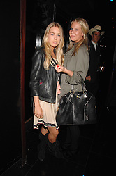 Left to right, MARY CHARTERIS and ALICE DAWSON at the opening of the new club Chloe, 3 Cromwell Road, London on 7th June 2007.<br />