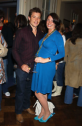 TV presenter BEN SHEPHARD and his wife ANNIE at a party to celebrate the launch of Dkkor Records at Kettners, Romilly Street, Soho, London on 31st March 2005.<br />