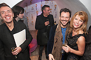 JOSEPH VELOSA; MATTHEW WILLIAMSON; MERVE LIEBELT, Maison Triumph launch to celebrate the beginning of London fashion week. Monmouth St. 14 February 2013.