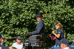 Aillaud Benjamin, FRA, Beene van de Dubelsile, Douwe Fan't Oosterzand, Maestoso Leo, Sybren P<br /> Donaueschingen - CHI mit Europameisterschaft Gespannfahren 2019<br /> Dressage Four-in-hand horses Driving European Championship<br /> Vierspänner Dressur<br /> 16. August 2019<br /> © www.sportfotos-lafrentz.de/Dirk Caremans