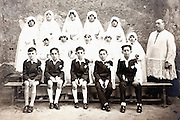 1920s group portrait holy communion France