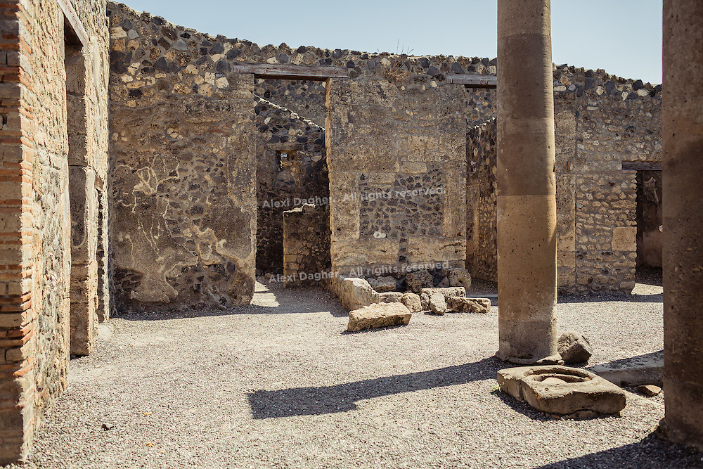 House in ruins - Pompeii, Italy 2014