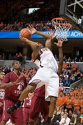Virginia Cavaliers forward/guard Will Harris (1) shoots against FSU.  The Virginia Cavaliers Men's Basketball Team defeated the Florida State Seminoles 73-70 at the John Paul Jones Arena in Charlottesville, VA on February 17, 2007.