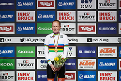 Race winner, Rozemarijn Ammerlaan (NED) at UCI Road World Championships 2018 - Junior Women's ITT, a 19.8 km individual time trial in Innsbruck, Austria on September 24, 2018. Photo by Sean Robinson/velofocus.com