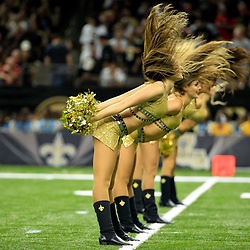 Sep 26, 2016; New Orleans, LA, USA; New Orleans Saints Saintsations cheerleaders perform following the first quarter of a game against the Atlanta Falcons at the Mercedes-Benz Superdome. Mandatory Credit: Derick E. Hingle-USA TODAY Sports