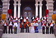 Royal Court, Aloha Week, Iolani Palace, Oahu, Hawaii (editorial use only, no model release)<br />