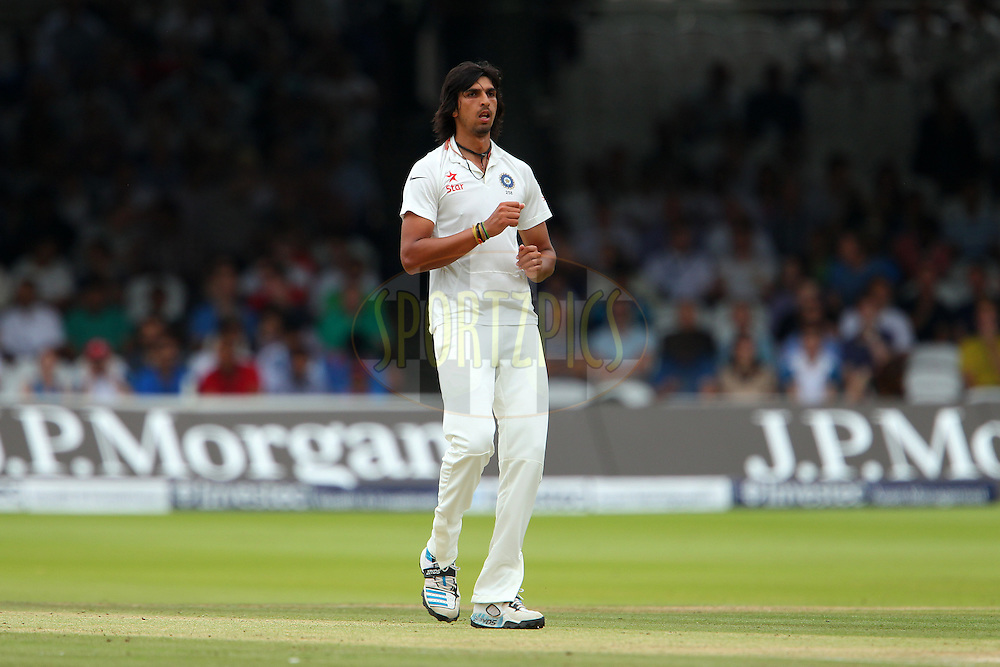 Ishant Sharma of India during day three of the 2nd Investec test match between England and India held at Lords cricket ground in London, England on the 19th July 2014<br /> <br /> Photo by Ron Gaunt / SPORTZPICS/ BCCI