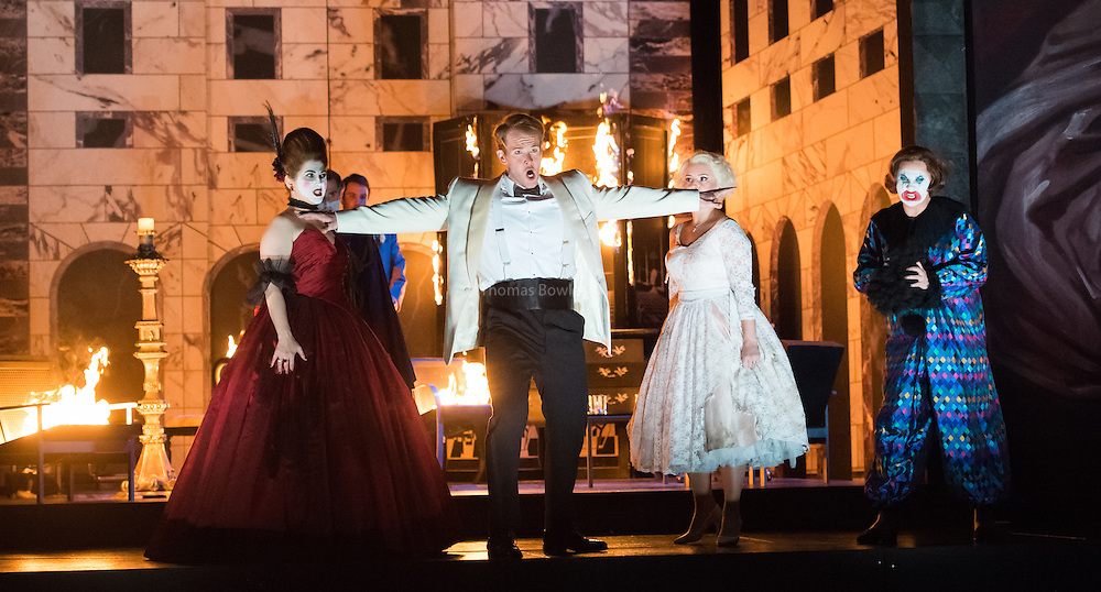 Glyndebourne Touring Opera present Don Giovanni by Wolfgang Amadeus Mozart<br /> <br /> <br /> Don Giovanni - Duncan Rock<br /> Donna Anna -  Ana Maria Labin<br /> Donna Elvira  - Magdalena Molendowska<br /> Zerlina  - Louise Alder<br /> <br /> <br /> Conductor Pablo Gonz&aacute;lez (15, 22, 25, 27, 30 Oct; 4,8, 11, 15, 18, 22, 25 Nov)<br /> Ben Gernon (29 Nov; 2, 6, 9 Dec)<br /> Director Jonathan Kent<br /> Revival Director Lloyd Wood<br /> Designer Paul Brown<br /> Lighting Designer Mark Henderson<br /> <br /> The Glyndebourne Tour Orchestra<br /> The Glyndebourne Chorus<br /> <br /> Don Giovanni Duncan Rock<br /> Donna Anna Ana Maria Labin<br /> Don Ottavio Anthony Gregory<br /> Donna Elvira Magdalena Molendowska<br /> Leporello Brandon Cedel<br /> Il Commendatore Andrii Goniukov<br /> Zerlina Louise Alder<br /> Masetto Božidar Smiljanić