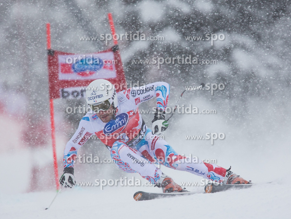 29.12.2013, Stelvio, Bormio, ITA, FIS Ski Weltcup, Bormio, Abfahrt, Herren, im Bild Brice Roger (FRA) // Brice Roger of France in action during mens downhill of the Bormio FIS Ski Alpine World Cup at the Stelvio Course in Bormio, Italy on 2013/12/29. EXPA Pictures © 2013, PhotoCredit: EXPA/ Johann Groder