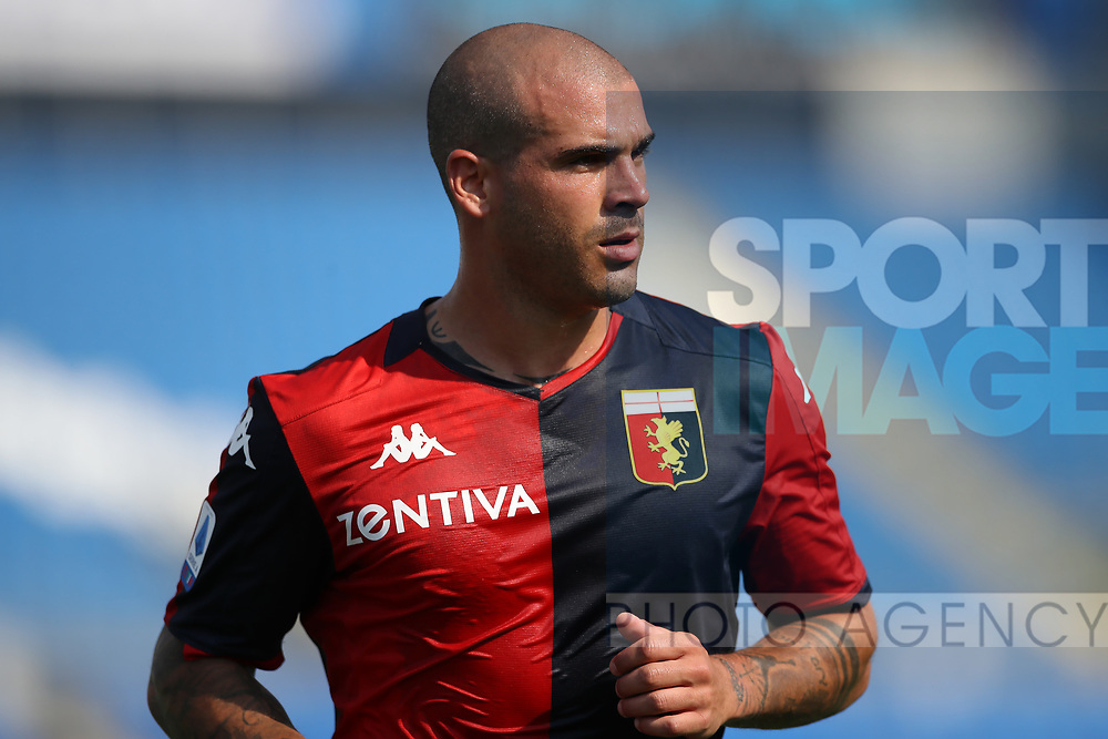 Genoa's Italian midfielder Stefano Sturaro during the Serie A match at Stadio Mario Rigamonti, Brescia. Picture date: 27th June 2020. Picture credit should read: Jonathan Moscrop/Sportimage