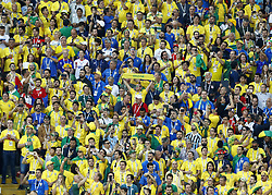 June 27, 2018 - Moscow, Russia - Group E Serbia v Brazil - FIFA World Cup Russia 2018.Brazil supporters at Spartak Stadium in Moscow, Russia on June 27, 2018. (Credit Image: © Matteo Ciambelli/NurPhoto via ZUMA Press)
