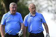 Pat McEnroe and  Rodney Lyons (Co Cavan GC) during the All Ireland Fourball Inter Club Ulster finals, Killymoon Golf Club, Cookstown, Tyrone, Northern Ireland. 25/08/2019.<br /> Picture Fran Caffrey / Golffile.ie<br /> <br /> All photo usage must carry mandatory copyright credit (© Golffile | Fran Caffrey)