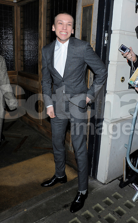 Jamie Campbell Bower attends Harvey Weinstein's pre-BAFTA dinner at Little House restaurant in London, UK. 14/02/2014<br />