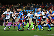 David Mirfin, Ian Henderson, Calvin Andrew, Jack King during the Sky Bet League 1 match between Scunthorpe United and Rochdale at Glanford Park, Scunthorpe, England on 28 December 2015. Photo by Daniel Youngs.