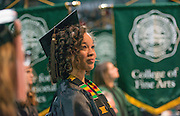 Zari Alisha Rose participates in fall commencement. Photo by Ben Siegel