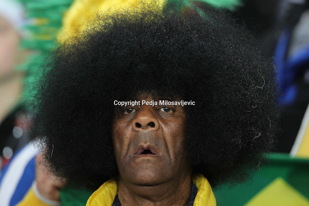 &copy;Jonathan Moscrop - LaPresse<br /> 28 06 2010 Johannesburg ( Sud Africa )<br /> Sport Calcio<br /> Brasile vs Cile - Mondiali di calcio Sud Africa 2010 Ottavi di finale - Ellis Park Stadium<br /> Nella foto: tifosi allo stadio<br /> <br /> &copy;Jonathan Moscrop - LaPresse<br /> 28 06 2010 Johannesburg ( South Africa )<br /> Sport Soccer<br /> Brazil versus Chile - FIFA 2010 World Cup South Africa Round of sixteen  - Ellis Park Stadium<br /> In the Photo: fans pictured at the stadium