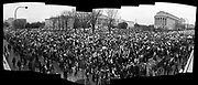 Stitched panorama, Womens's March on  Washington DC. 21 January 2017