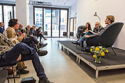Den syriske poeten Adonis (86),  hovedgjest under Æ Å Trondheim Litteraturfestival i mars 2017. Den 86 år gamle forfatteren og poeten Ali Ahmad Said Esber er mannen bak kunstnernavnet Adonis, og han har i hele sin lange karriere stilt spørsmål rundt poesi, politikk og religion. Her i samtale med Litteraturhusets leder Trond Åm bl.a.  med utgangspunkt i Adonis`bok «Vold og Islam», som kom på norsk i 2016. En bok han har fått mye oppmerksomhet for, men også har møtt mye motstand mot. Adonis snakket på fransk og brukte tolk. Adonis (Ali Ahmad Said Esber) is a Syrian poet, essayist and translator who is considered one of the most influential and dominant Arab poets of the modern era. Adonis's publications include twenty volumes of poetry and thirteen of criticism, and dozen books of translation to Arabic. Islamic authorities and scholars have opposed Adonis for his criticism of Islam. Some, such as Egyptian Salafi Mohamad Said Raslan and some faction of the Syrian opposition, issued death threats against him, and some called for his books to be burned. In spite of this opposition, Adonis is a perennial contender for the Nobel Prize in Literature, Adonis has been described as the greatest living poet of the Arab world. Born to a modest Alawite farming family[8] in January 1930, Adonis hails from the village of al-Qassabin near the city of Latakia in western Syria. He was unable to afford formal schooling for most of his childhood, and his early education consisted of learning the Quran in the local kuttab (mosque-affiliated school) and memorizing classical Arabic poetry, to which his father had introduced him.