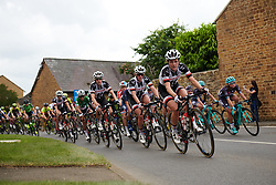Floortje Mackaij (NED) leads the bunch at OVO Energy Women's Tour 2018 - Stage 3, a 151 km road race from Atherstone to Leamington Spa, United Kingdom on June 15, 2018. Photo by Sean Robinson/velofocus.com