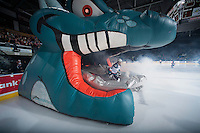KELOWNA, CANADA - JANUARY 10:  Chance Braid #22 of Kelowna Rockets enters the ice against the Medicine Hat Tigerson January 10, 2015 at Prospera Place in Kelowna, British Columbia, Canada.  (Photo by Marissa Baecker/Shoot the Breeze)  *** Local Caption *** Chance Braid;