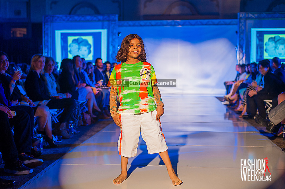 FASHION WEEK NEW ORLEANS: No Bully show case there design on the runway at the Board of Trade, Fashion Week New Orleans on Wednesday March 19. 2014. #FWNOLA, #FashionWeekNOLA, #Design #FashionWeekNewOrleans, #NOLA, #Fashion #BoardofTrade, #GustavoEscanelle, #TraceeDundas , #romeyRoe, #DominiqueWhite . View more photos at <br /> http://Gustavo.photoshelter.com.