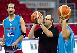Head coach of Tunisia Adel Tlatli  at practice of his team a day before of the 2010 FIBA Basketball World Championship, on August 27, 2010, in Abdi Ipekci Arena, Istanbul,Turkey. (Photo by Vid Ponikvar / Sportida)