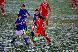 CESENA, ITALY - Tuesday, January 22, 2019: Wales' Natasha Harding and Italy's Manuela Giugliano during the International Friendly between Italy and Wales at the Stadio Dino Manuzzi. (Pic by David Rawcliffe/Propaganda)