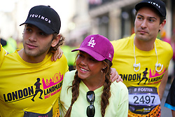 Eyal Booker and Michelle Heaton during the 2019 London Landmarks Half Marathon.