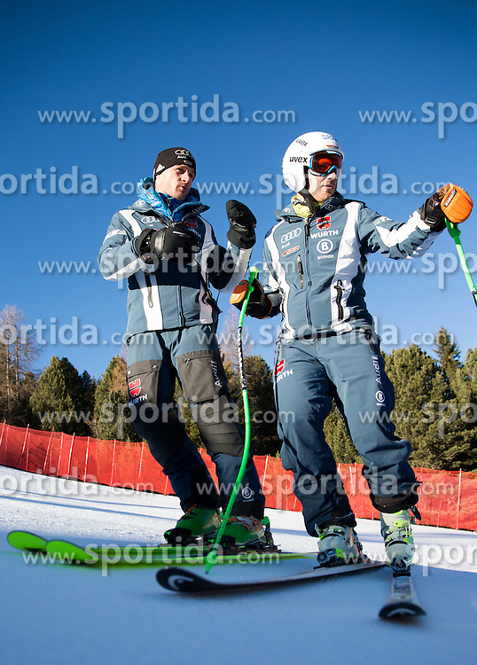 26.12.2015, Deborah Compagnoni Rennstrecke, Santa Caterina, ITA, FIS Ski Weltcup, Santa Caterina, Abfahrt, Herren, 1. Training, Streckenbesichtigung, im Bild Josef Ferstl (GER) // Coach of German Ski Federation ( L ) and Josef Ferstl of Germany ( R ) during the course inspection of 1st practice run of men's Downhill of the Santa Caterina FIS Ski Alpine World Cup at the Deborah Compagnoni Course in Santa Caterina, Italy on 2015/12/26. EXPA Pictures © 2015, PhotoCredit: EXPA/ Johann Groder