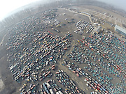 BEIJING, CHINA - FEBRUARY 03: (CHINA OUT) <br /> <br /> 1,551 Illegal Vehicles Get Destroyed In Beijing<br /> <br /> 1,551 illegal vehicles get destroyed at Changping district on February 3, 2015 in Beijing, China. The overall 1,551 illegal vehicles getting destroyed at Changping district do not have license plate and the owners were failed to accept the punishment in time. <br /> ©Exclusivepix Media