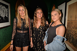 Left to right, Emily Lewis, Lily Lewis and Connie Sutton at the Annabel's Bright Young Things Party at Annabel's, Berkeley SquareLondon England. 8 June 2017.<br /> Photo by Dominic O'Neill/SilverHub 0203 174 1069 sales@silverhubmedia.com