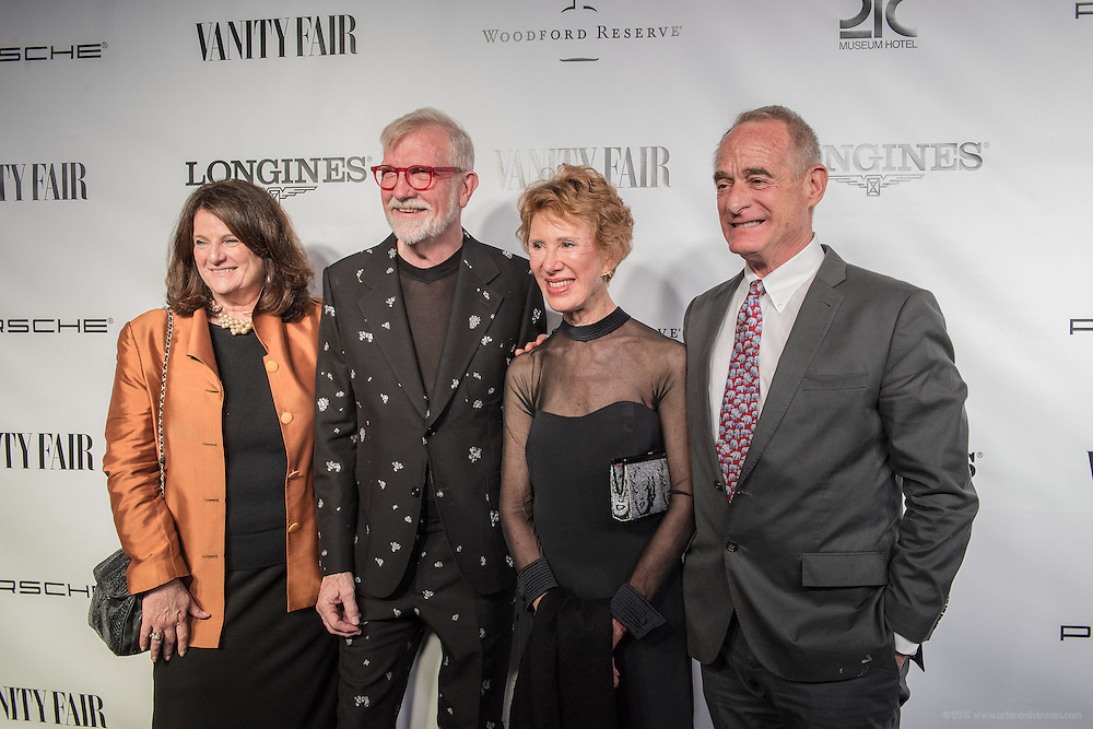 21c owners Laura Lee Brown and Steve Wilson walk the black carpet with guests at the Vanity Fair Derby party at 21c Museum Hotel. May 6, 2016