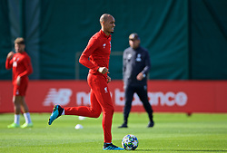 LIVERPOOL, ENGLAND - Monday, September 16, 2019: Liverpool's Fabio Henrique Tavares 'Fabinho' during a training session at Melwood Training Ground ahead of the UEFA Champions League Group E match between SSC Napoli and Liverpool FC. (Pic by Laura Malkin/Propaganda)