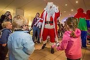 Father Christmas arriving at Airport
