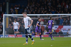 Caolan Lavery of Bury looks on as Port Vale celebrate their opening goal - Mandatory by-line: JMP - 04/05/2019 - FOOTBALL - Gigg Lane - Bury, England - Bury v Port Vale - Sky Bet League Two