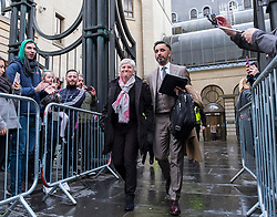 Edinburgh, Scotland,UK. 28 March 2018.  Clara Ponsati  leaving  Edinburgh Sheriff Court after her hearing. Ponsati faces extradition to Spain to face charges of rebellion over her support of Catalan Independence.