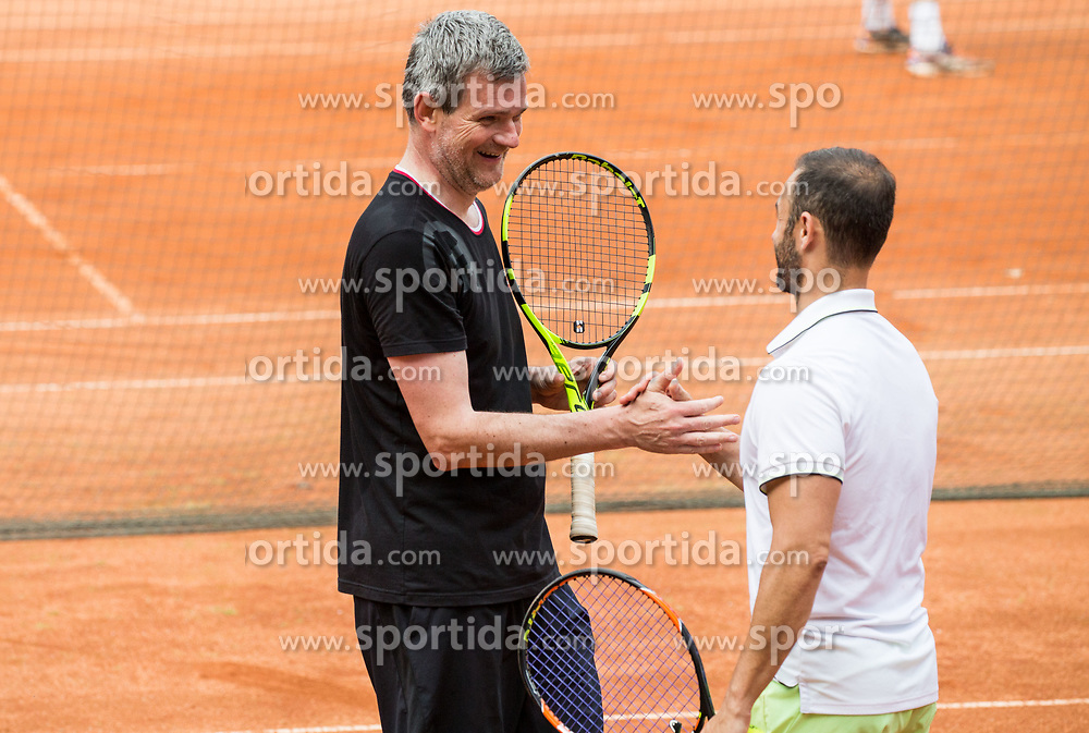 Tomaz Berlocnik and Aljaz Kos at Petrol VIP tournament 2018, on May 24, 2018 in Sports park Tivoli, Ljubljana, Slovenia. Photo by Vid Ponikvar / Sportida