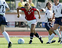 Fotball, 26. juli 2005, U21 damer, Åpent nordisk mesterskap, finale, Norge- USA 1-4,   Guro Knutsen, Norge