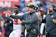 NASHVILLE, TN - OCTOBER 25:  Head Coach Dan Quinn of the Atlanta Falcons on the sidelines during a game against the Tennessee Titans at Nissan Stadium on October 25, 2015 in Nashville, Tennessee.  The Falcons defeated the Titans 10-7.  (Photo by Wesley Hitt/Getty Images) *** Local Caption *** Dan Quinn